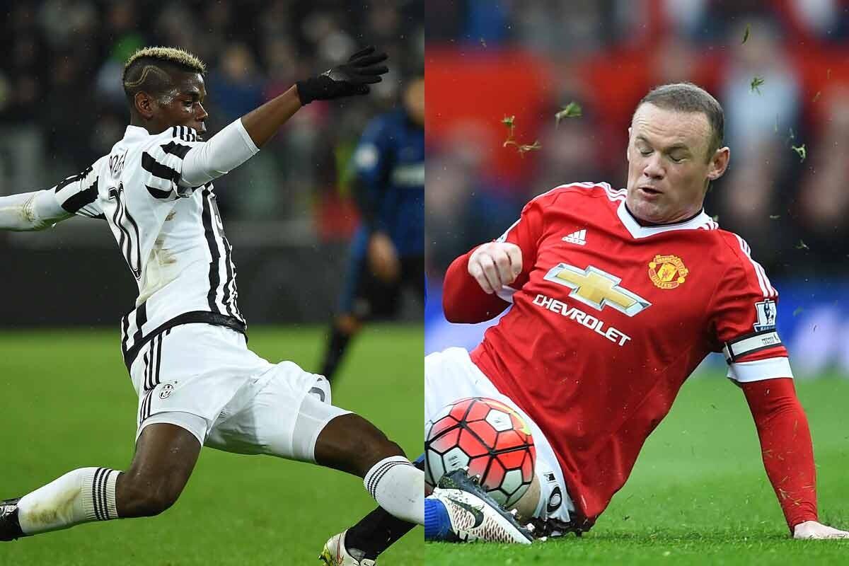 Pogba y Rooney