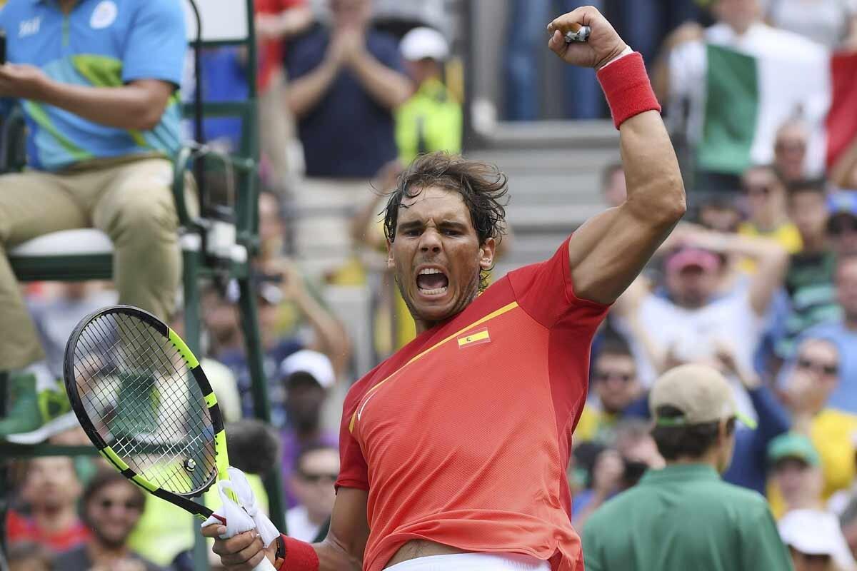 Rafa Nadal gana su partido de tenis en Rio 2016
