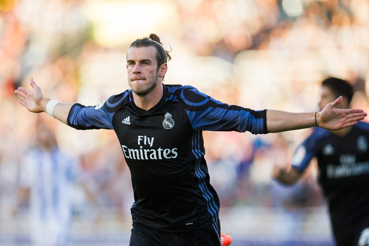 Gareth Bale celebra un gol