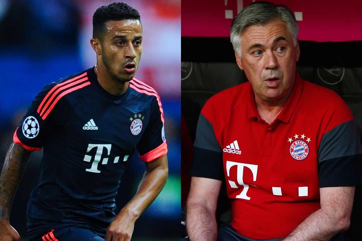 Thiago y Ancelotti