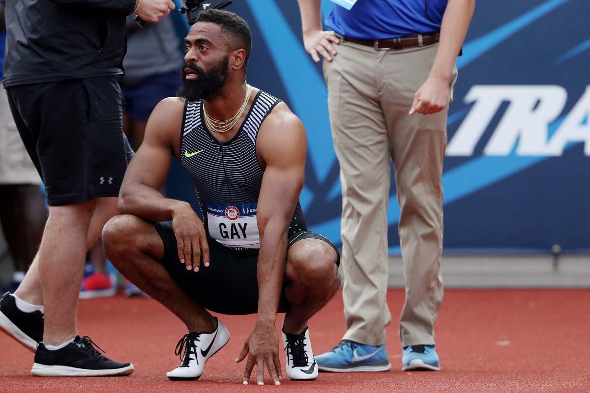El atleta Tyson Gay