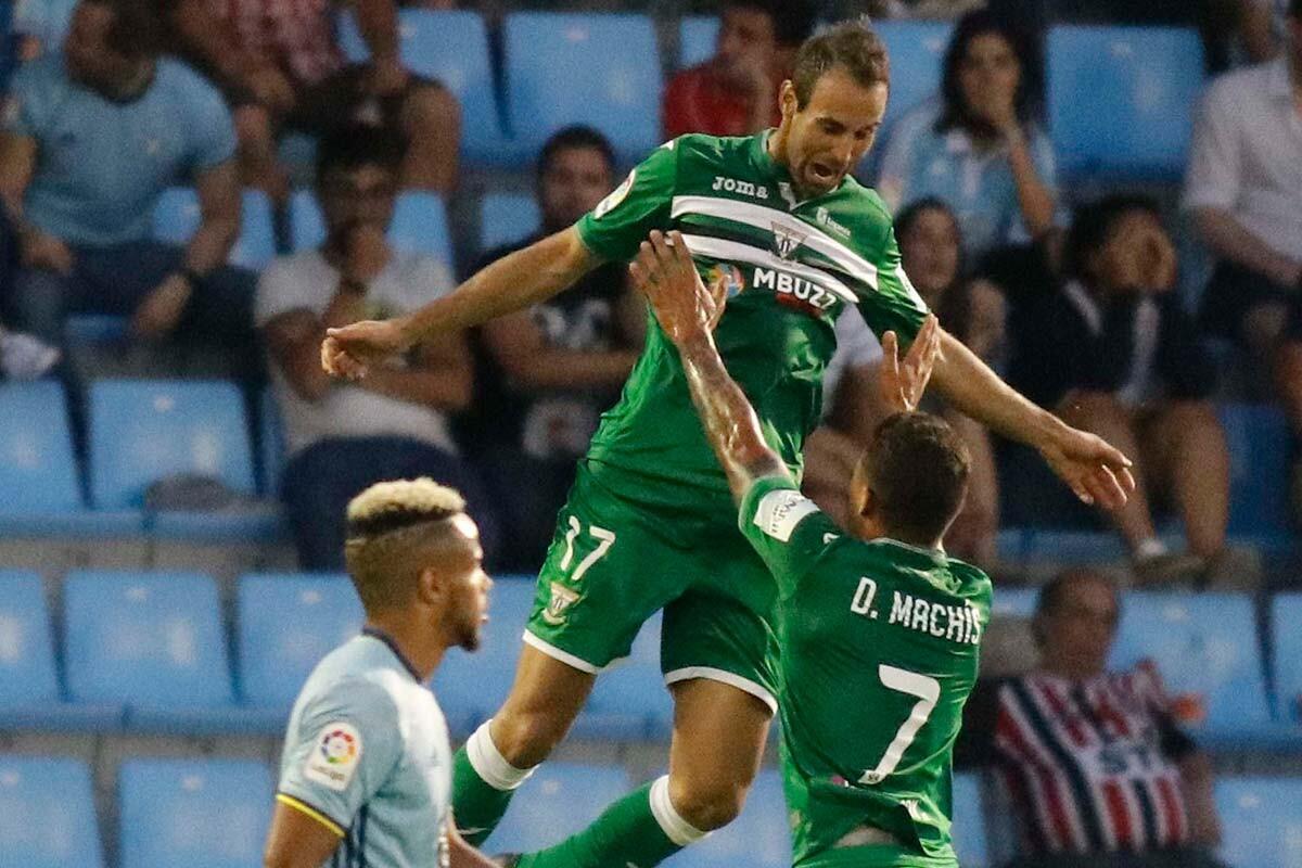 Víctor Díaz marca el primer gol de Leganés en Primera