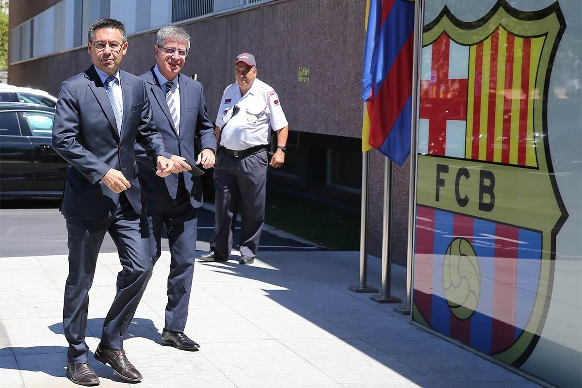 Josep Maria Bartomeu y Jordi Mestre
