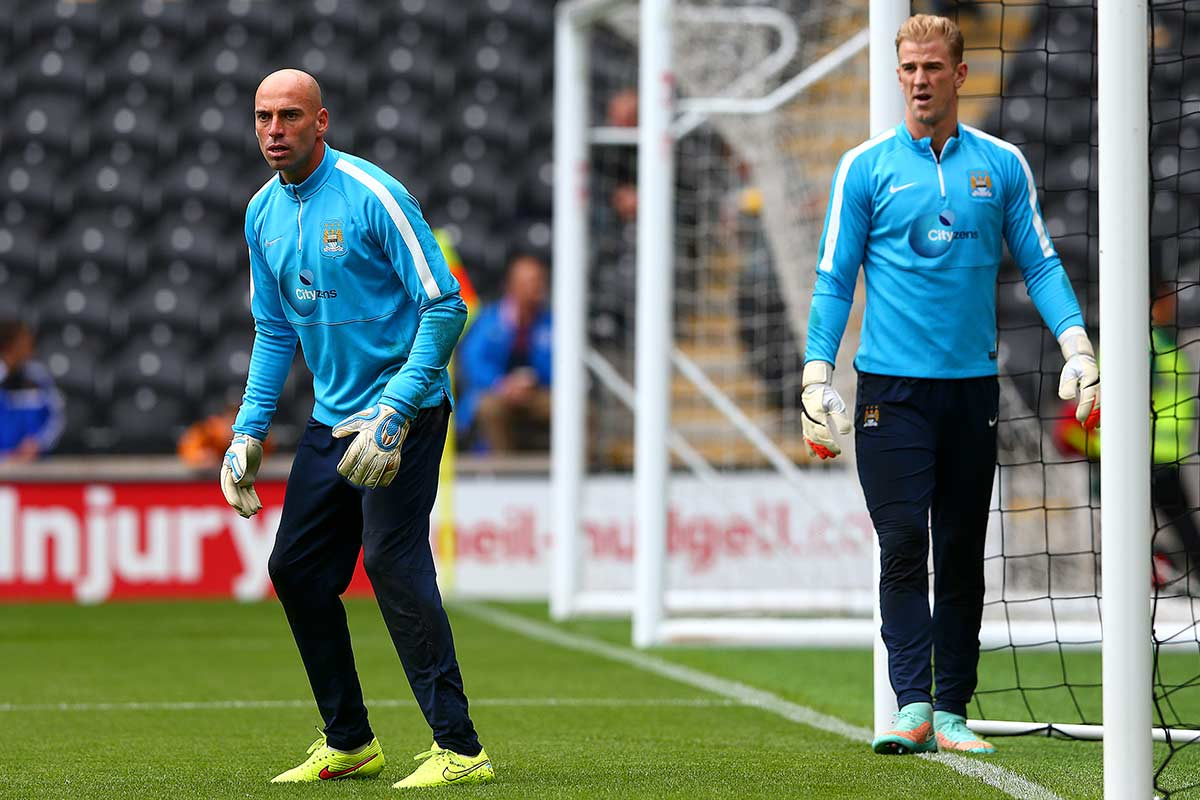 Willy Caballero y Joe Hart
