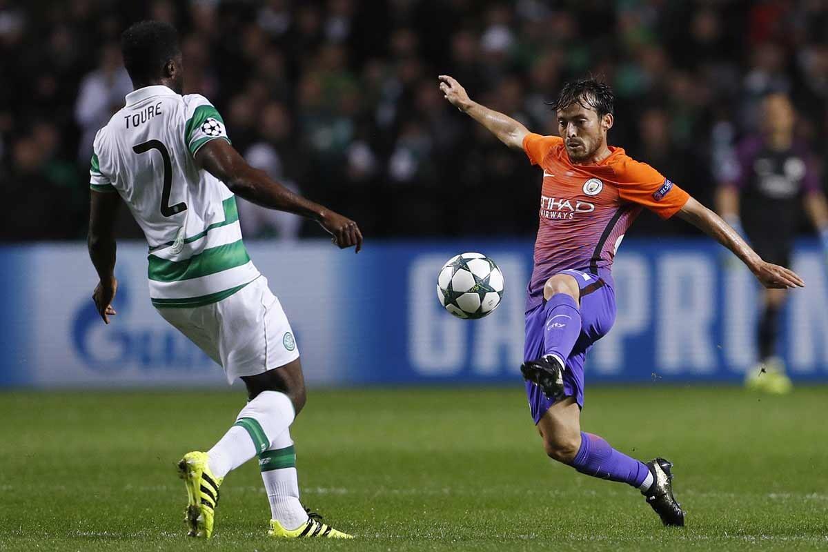 David Silva y Kolo Touré, en la Liga de Campeones