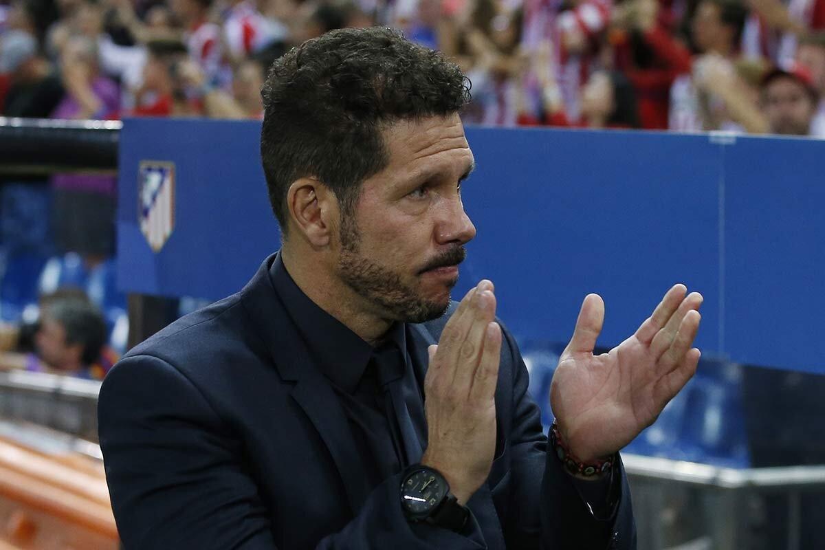 Diego Simeone, del Atlético de Madrid