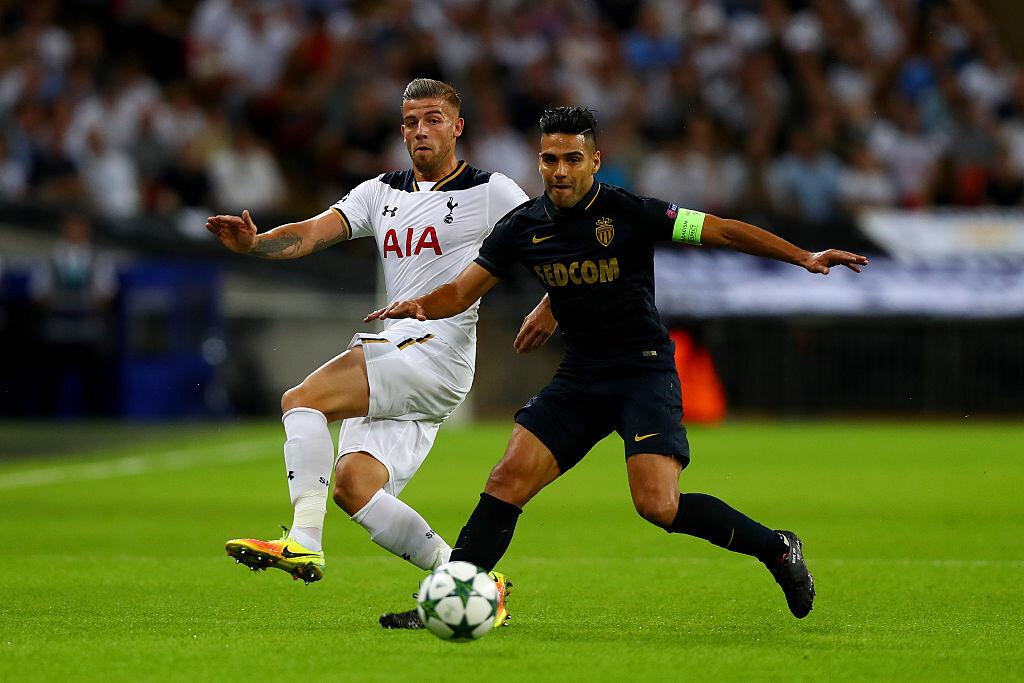 Falcao contra el Tottenham en Champions League