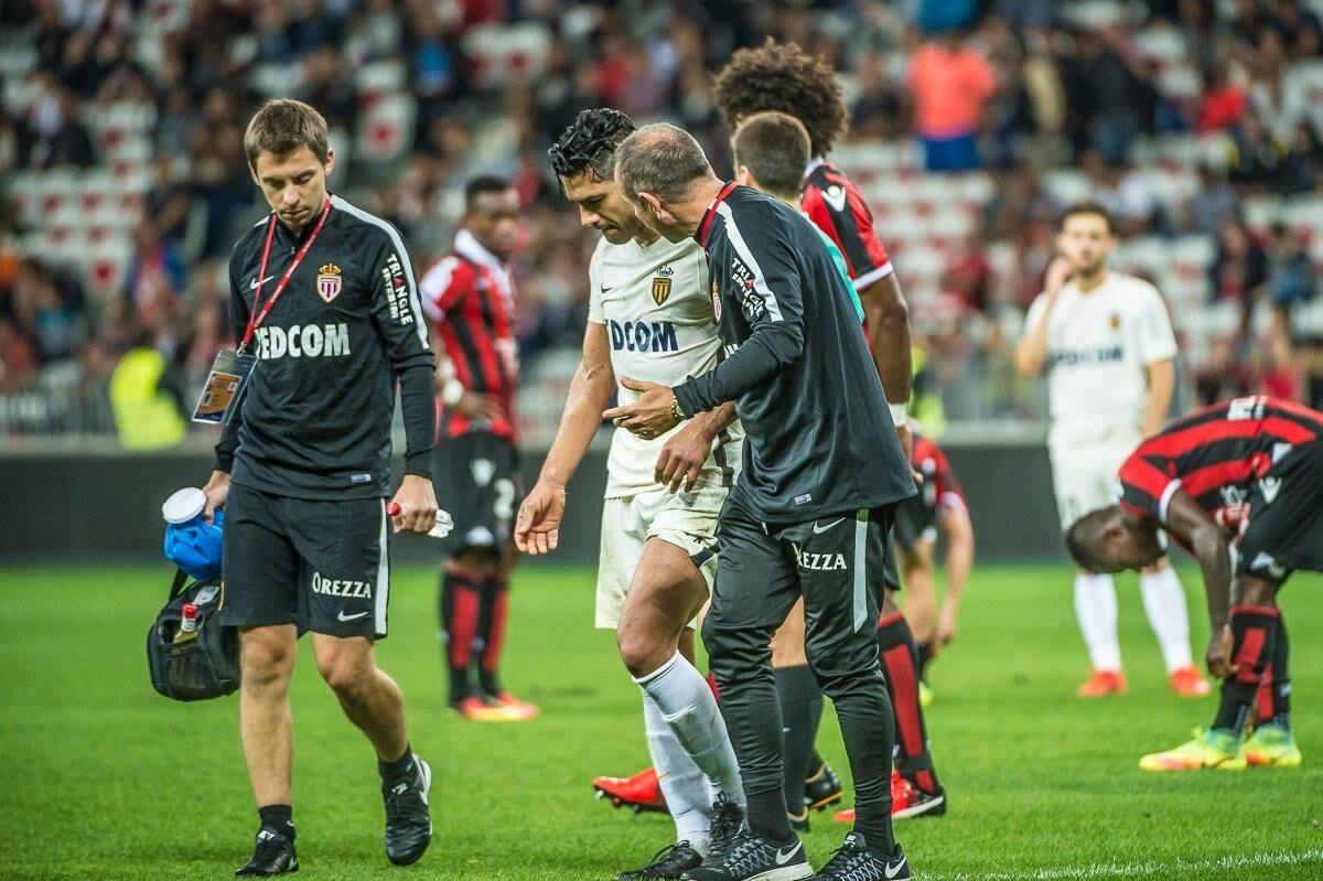 Falcao sufrió un terrible choque frente al Niza