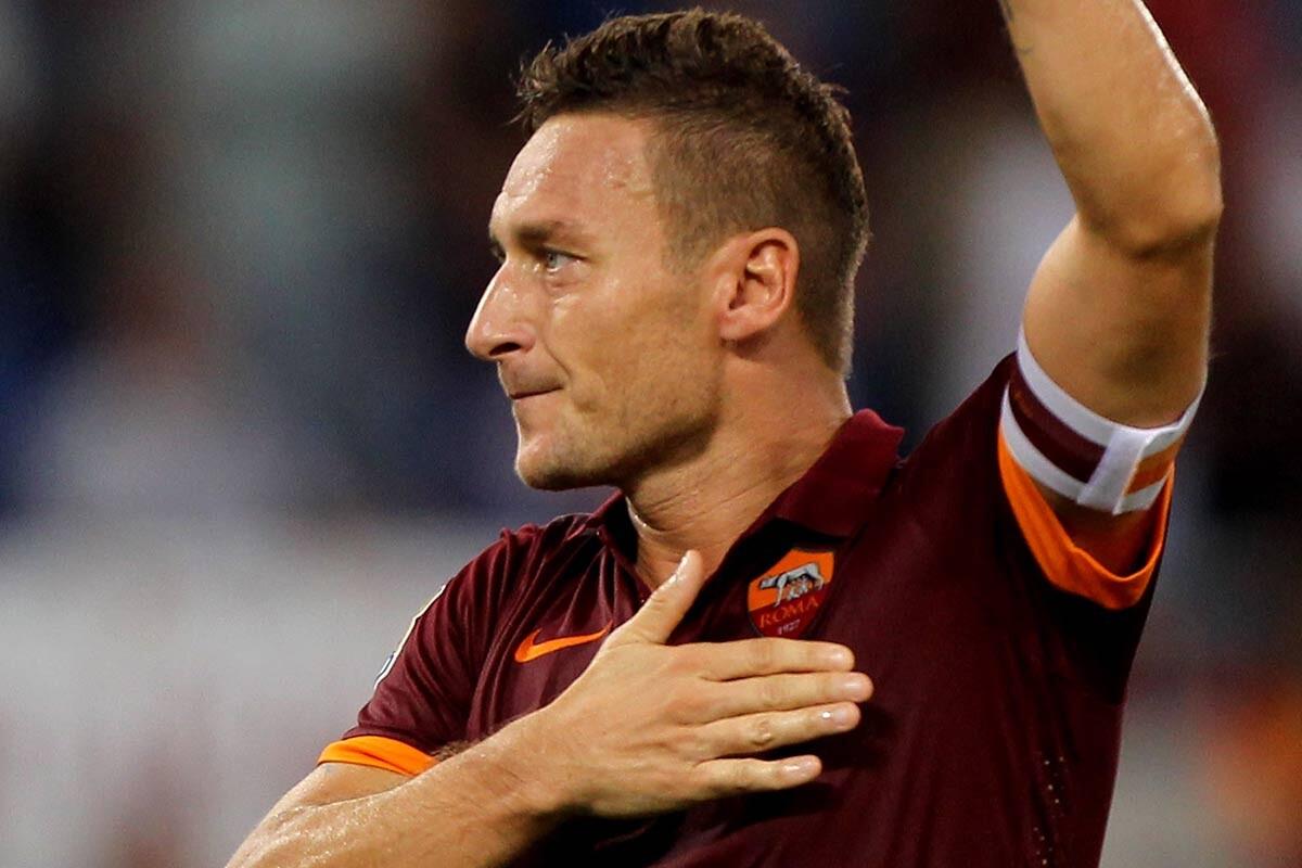 Francesco Totti, de la Roma