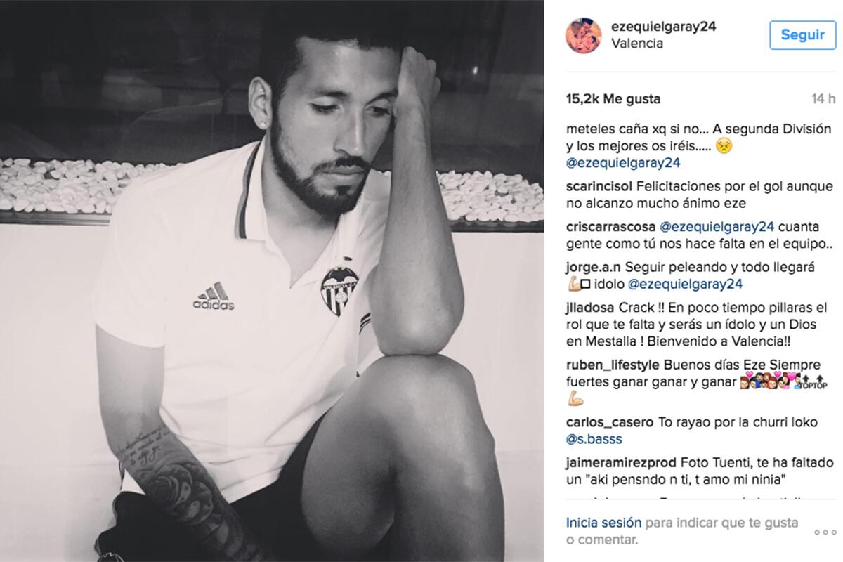 Ezequiel Garay Instagram Valencia CF