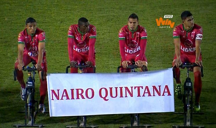 El fútbol colombiano le rindió homenaje a Nairo Quintana