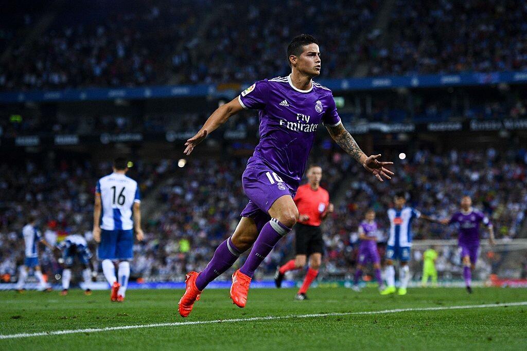James fue titular ante el Espanyol