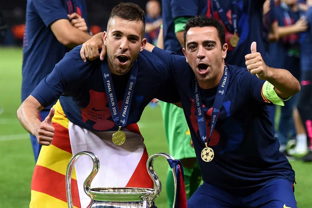 Xavi Hernández y Jordi Alba