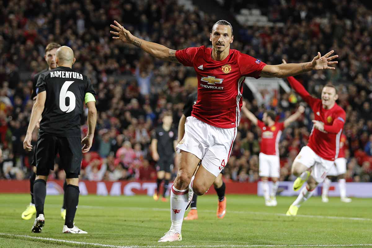 Zlatan Ibrahimovic, del Manchester United