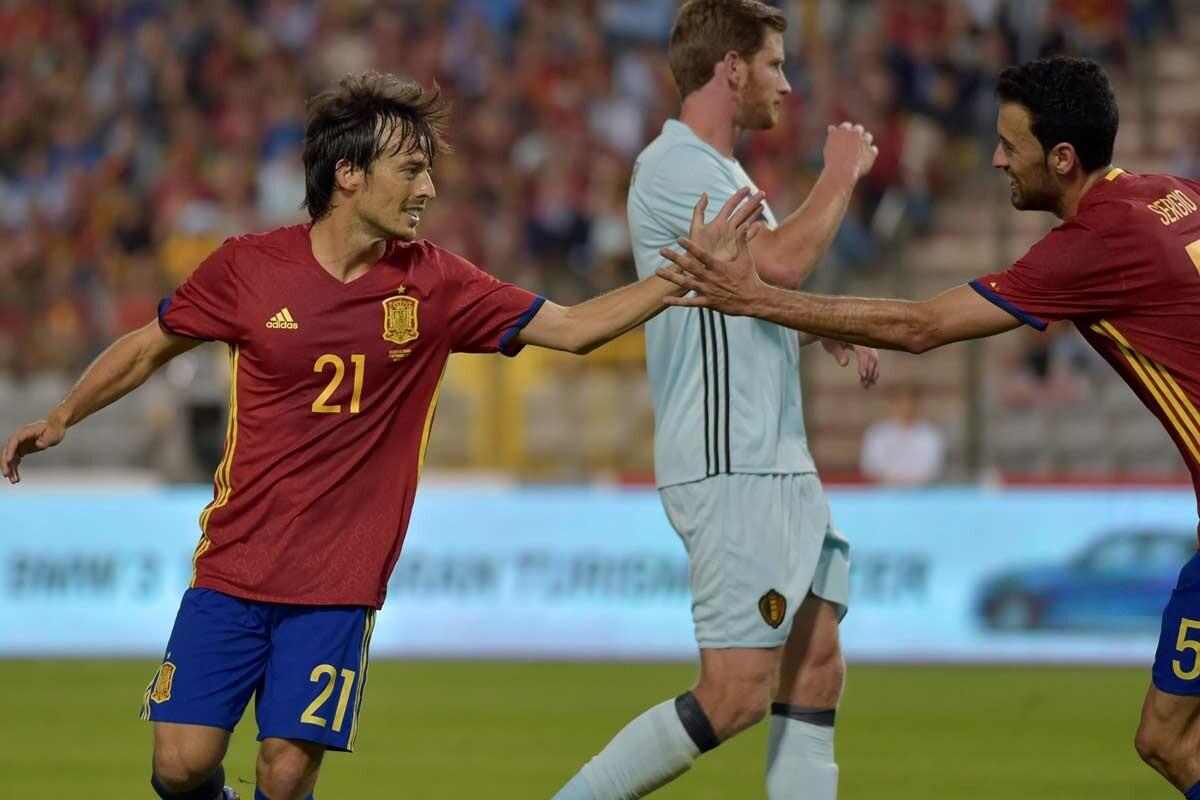 David Silva, con España