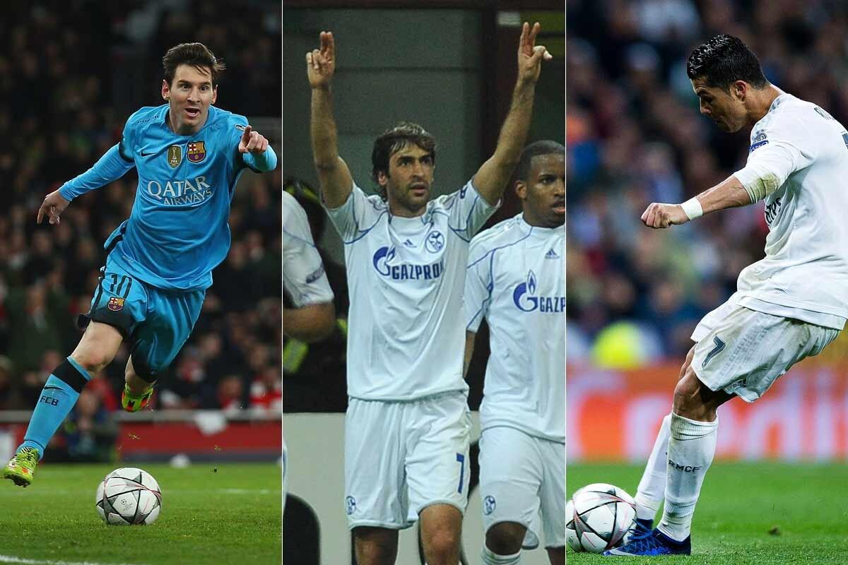 Messi, Raúl y Cristiano