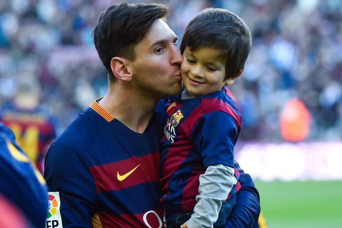 Leo Messi y Thiago Messi