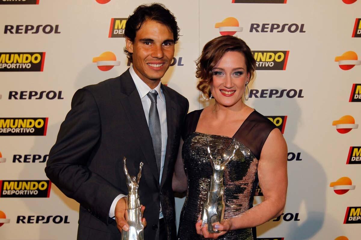 Rafa Nadal y Mireia Belmonte en los premios de Mundo Deportivo
