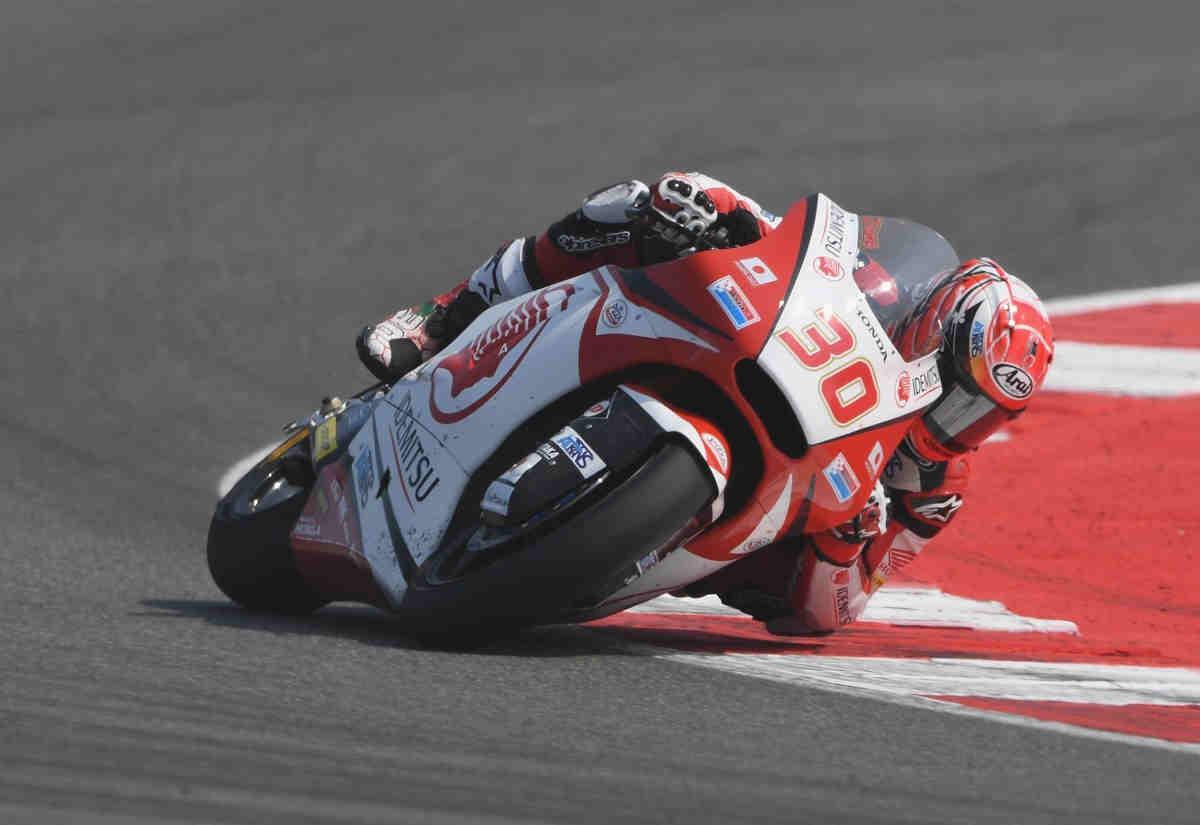 Nakagami consigue, in extremis, ser el más rápido del FP2 de Moto2