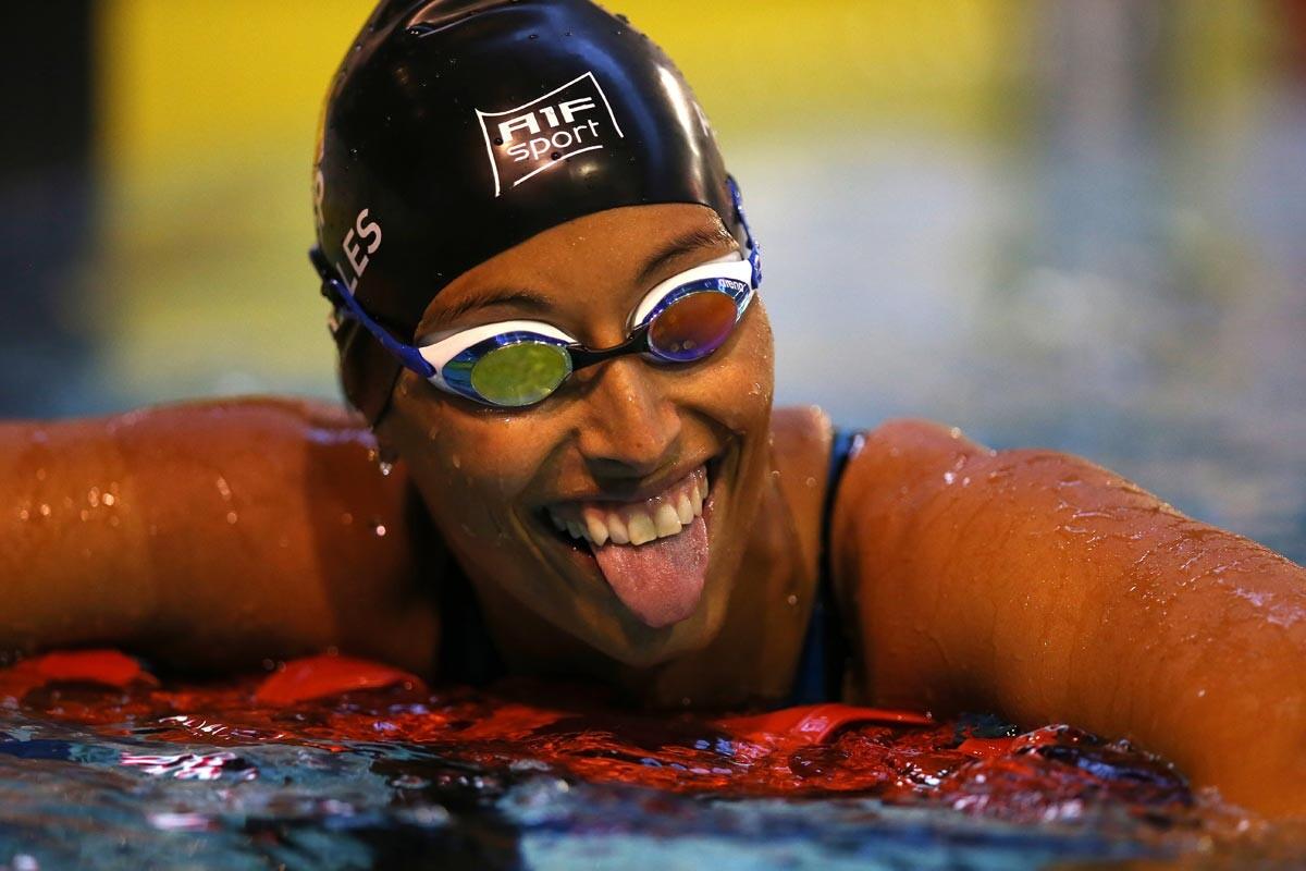 Teresa Perales tras la final de los 200 metros de Rio 2016