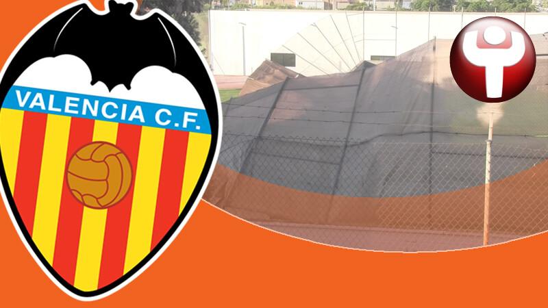 Valla búnker Ciudad Deportiva Paterna Valencia CF