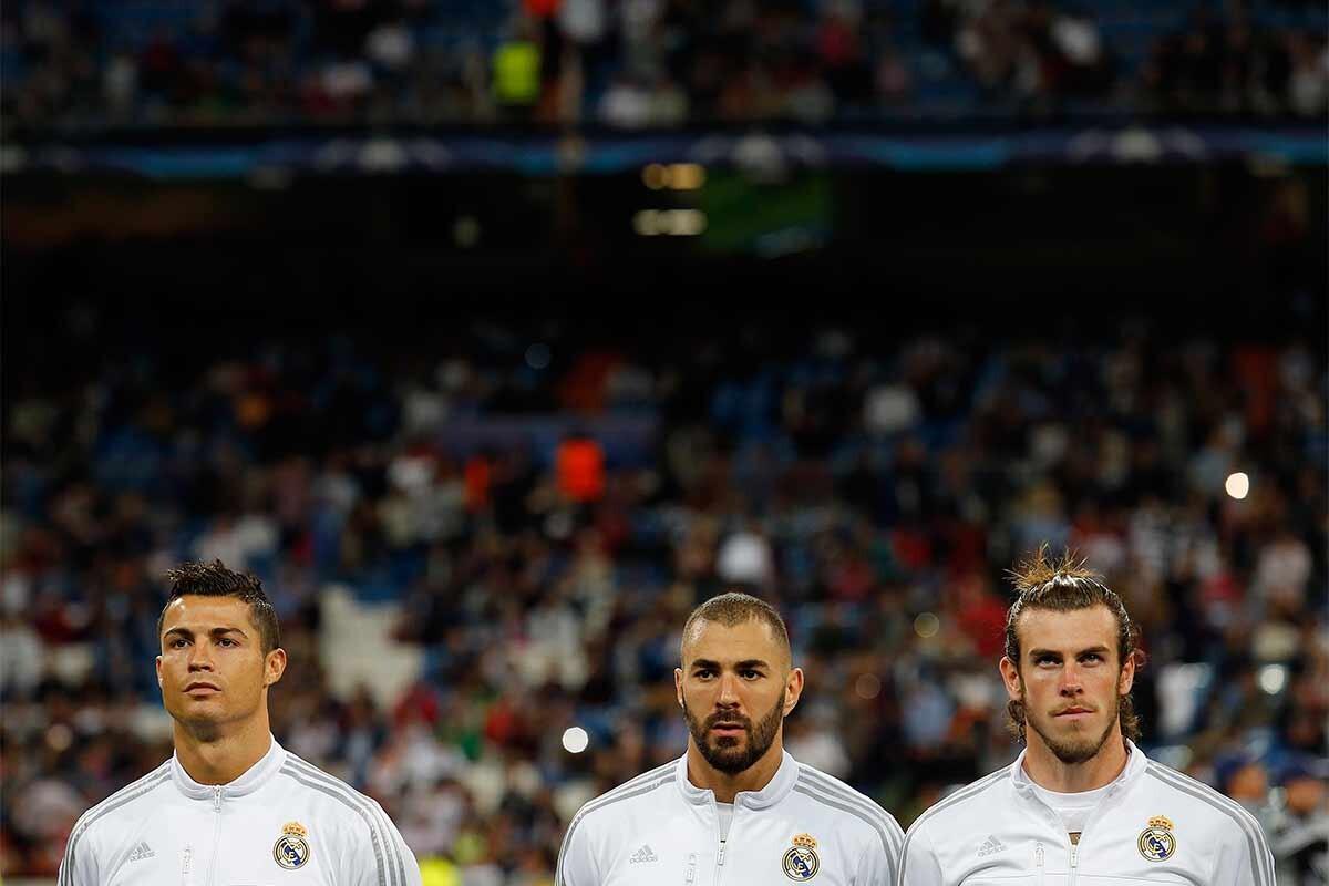 Cristiano Ronaldo, Karim Benzema y Gareth Bale