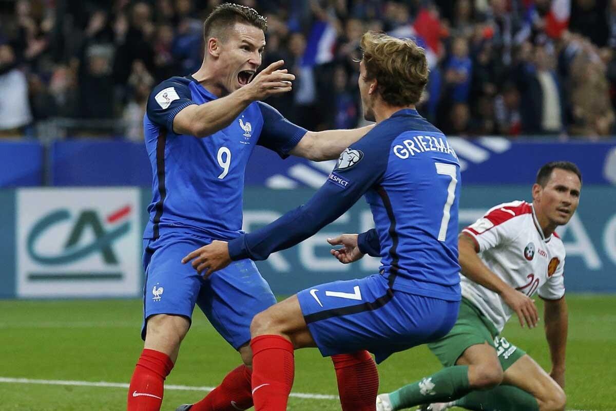 Griezmann y Gameiro, con Francia