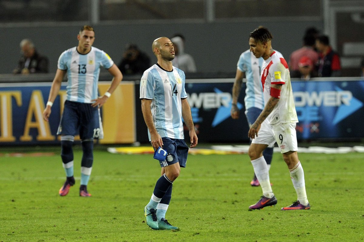 Mascherano se lamenta el empate de Perú
