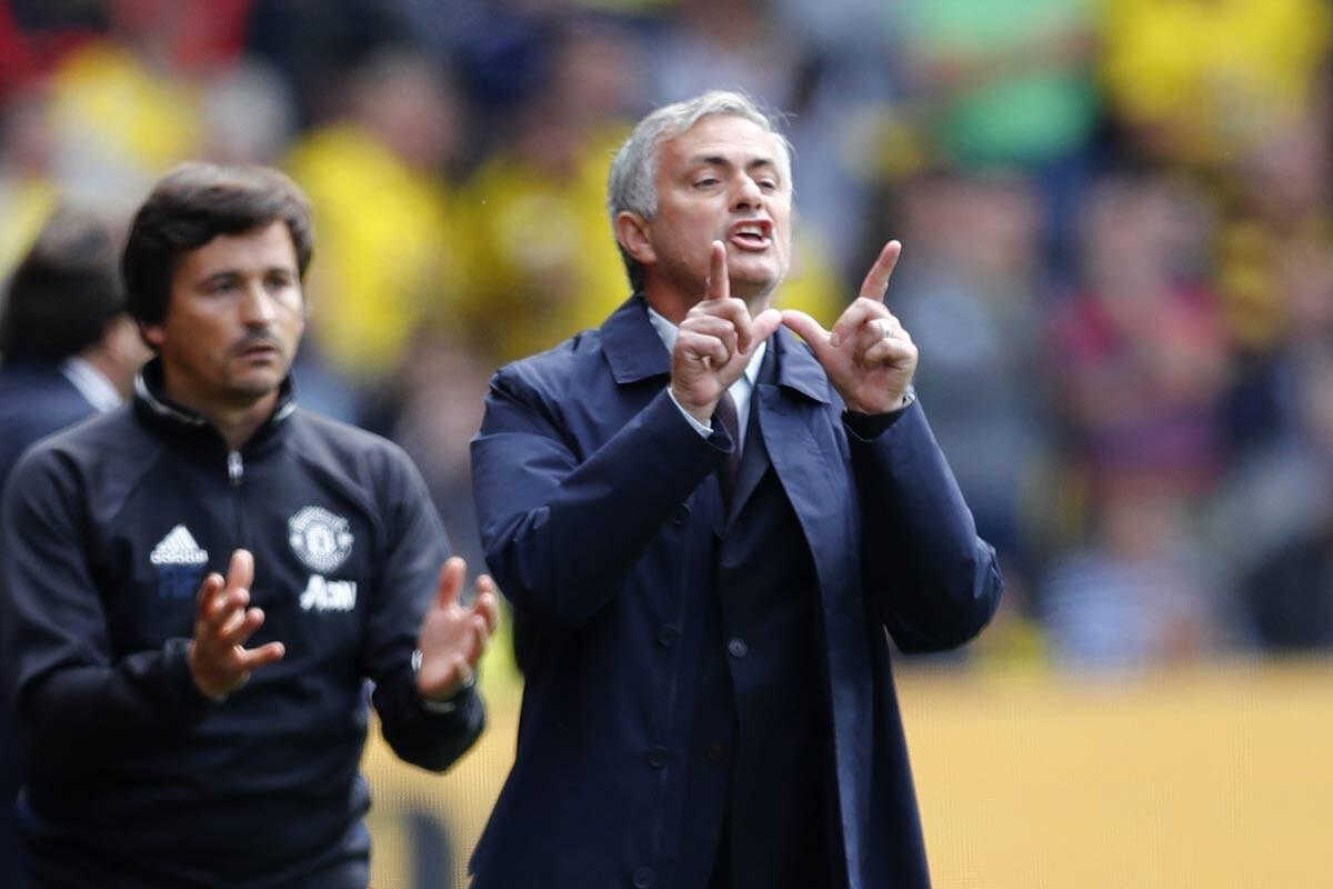 Jose Mourinho, técnico del Manchester United
