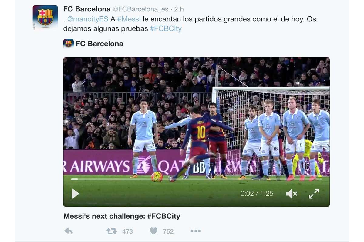 Pique en Twitter entre Barça y City