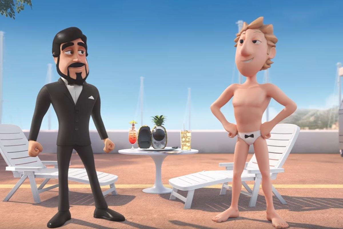 Fernando Alonso y Jenson Button en versión dibujos animados
