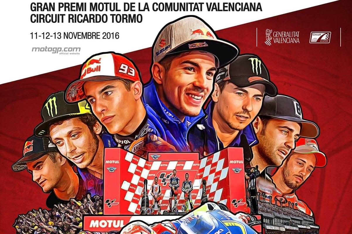 Cartel del GP de Valencia 2016
