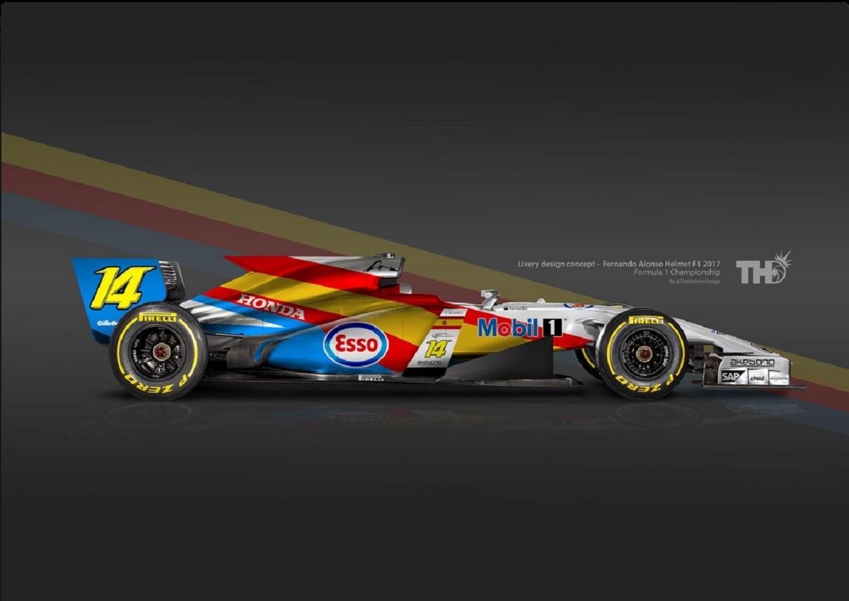 Imaginan los F1 con los colores del casco de sus pilotos
