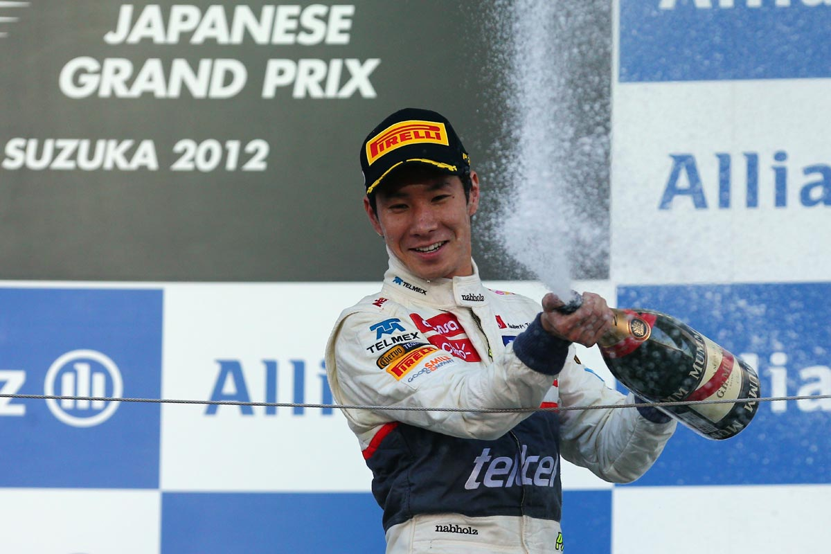 Kamui Kobayashi en el podio de 2012