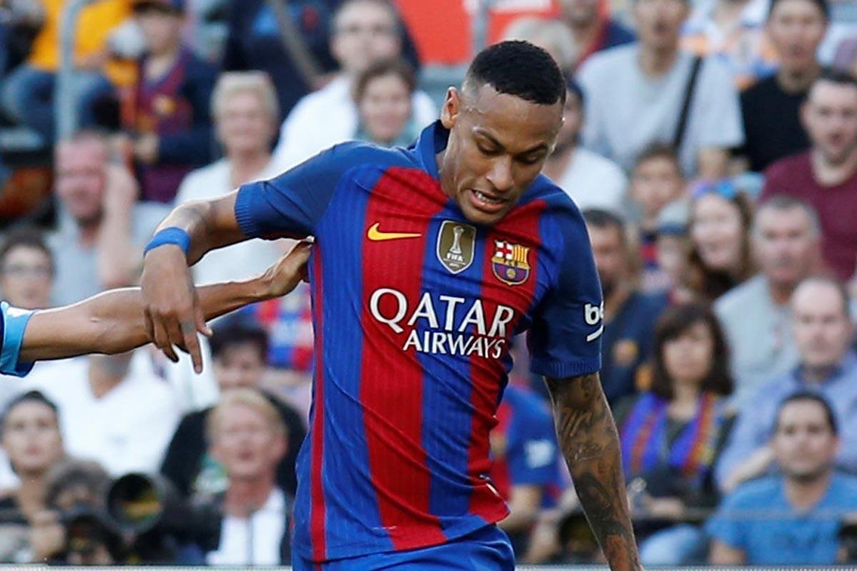 Neymar, ante el Deportivo