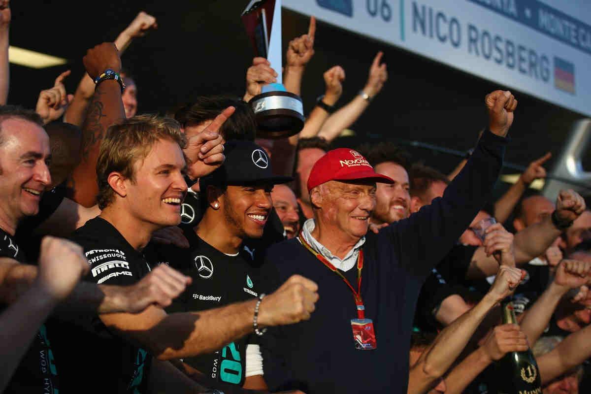 Lauda equipara su relación con Hunt a la Rosberg y Hamilton, los Niki Lauda y James Hunt actualesHamilton y Rosberg