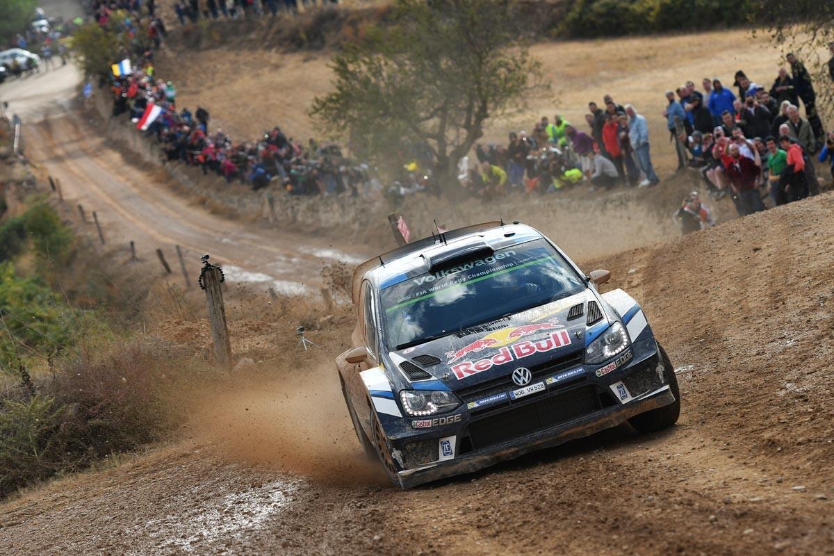 Sebastien Ogier en el Rally de Catalunya