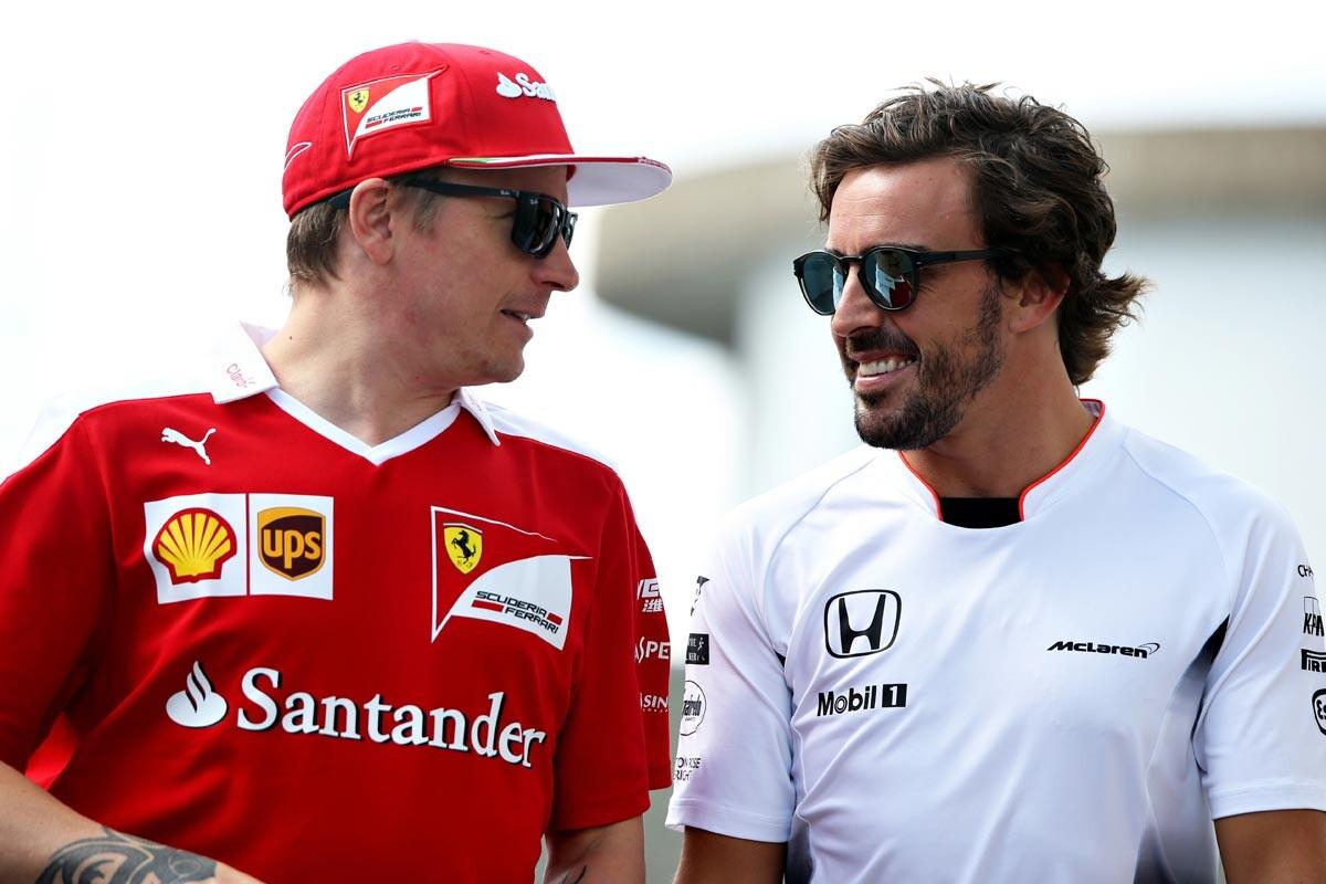 Räikkönen y Alonso fueron compañeros en Ferrari