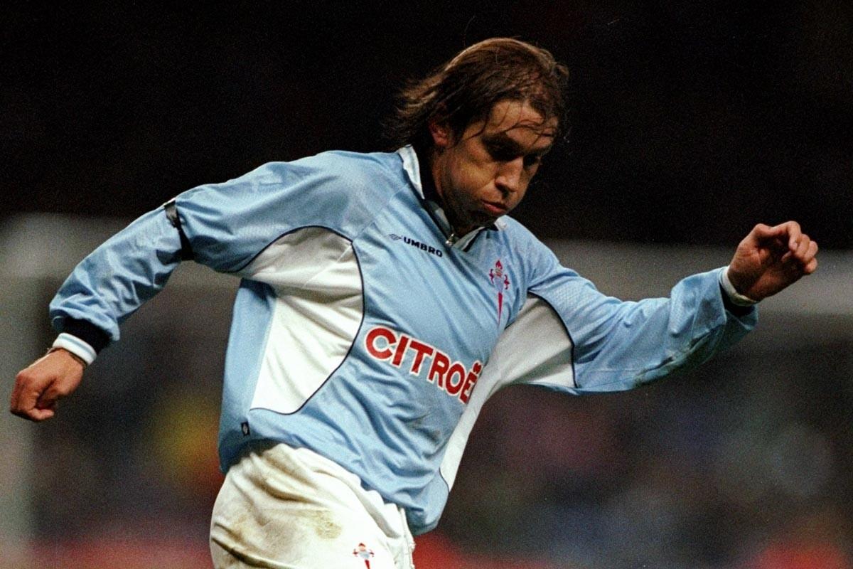 Michel Salgado en su etapa en el Celta