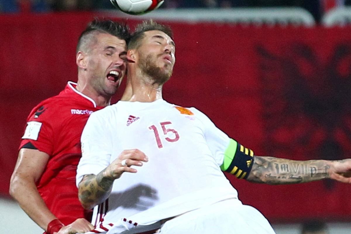 Sergio Ramos ante Albania