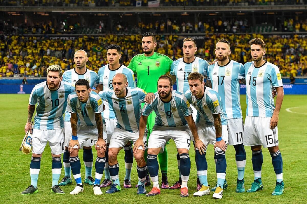 Formación de Argentina frente a Brasil