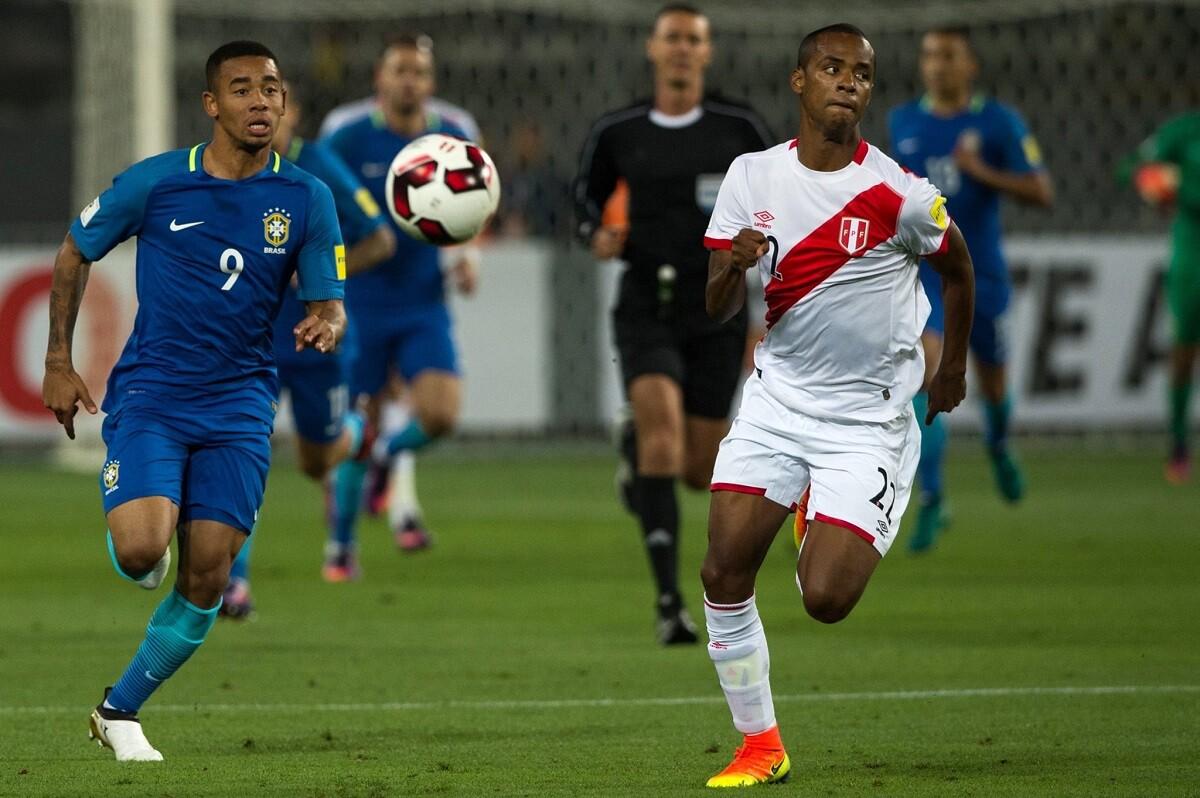 Gabriel Jesús, gol y pase gol ante Perú