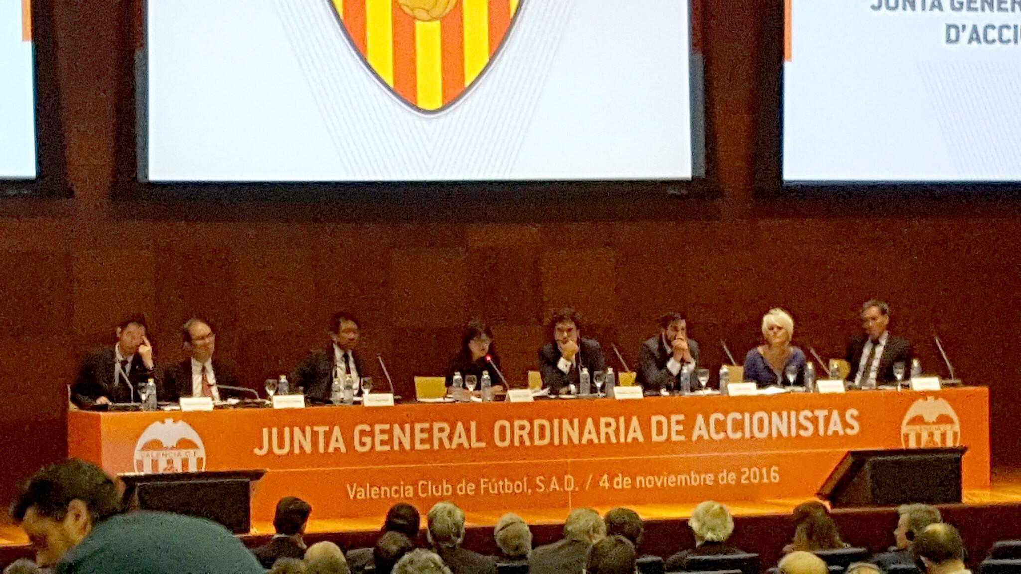 Junta Accionistas Valencia CF