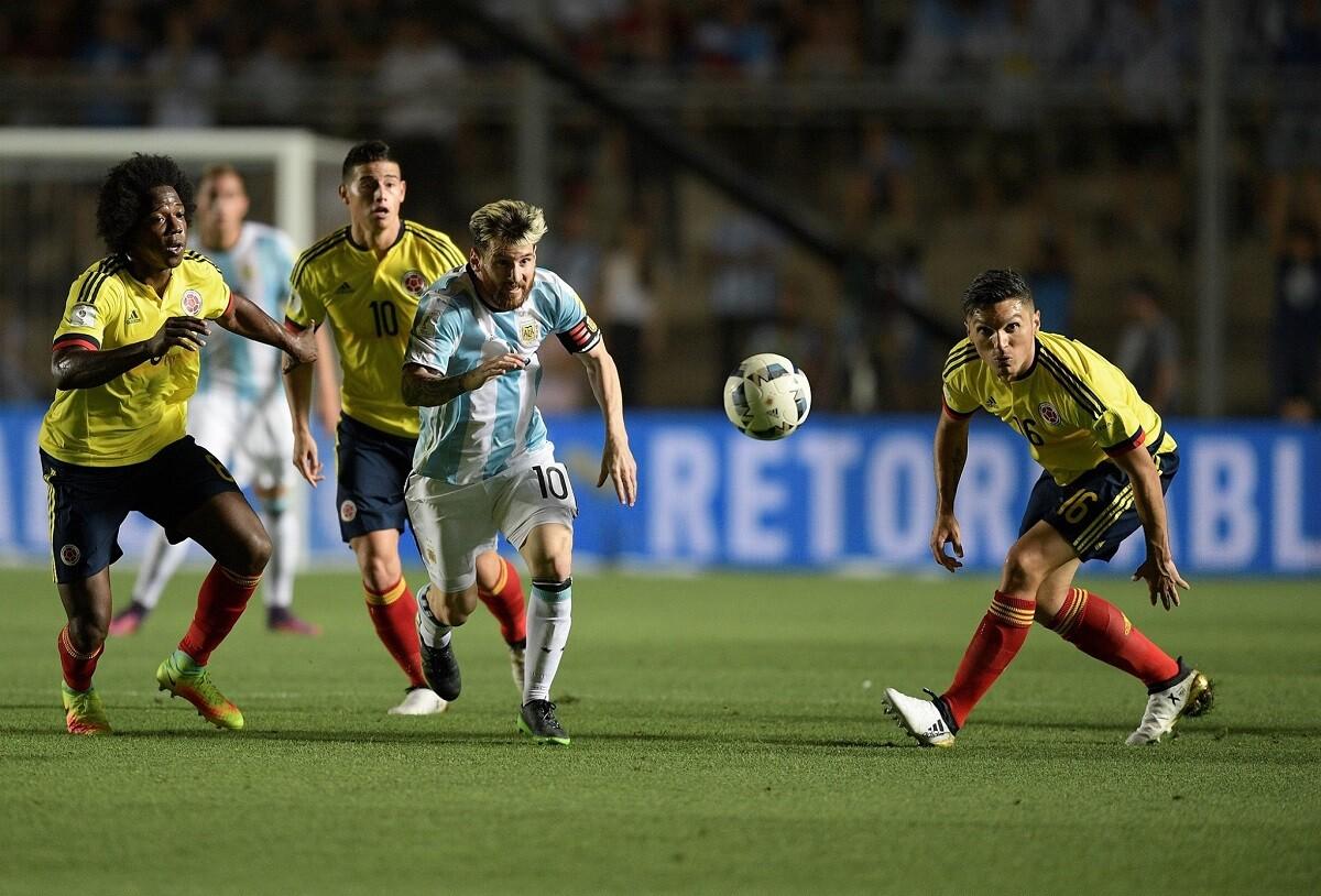 Messi anotó ante Colombia y asistió a Prato y a Di María