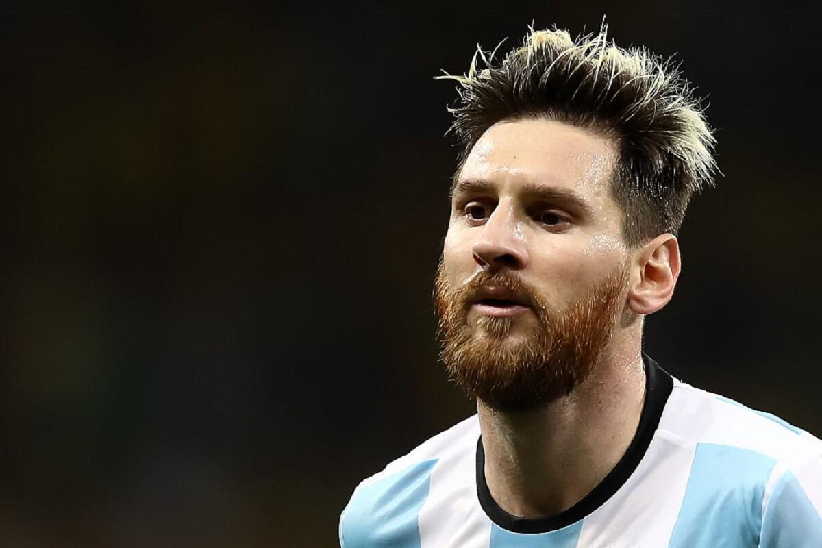 Messi en el partido de Argentina Brasil