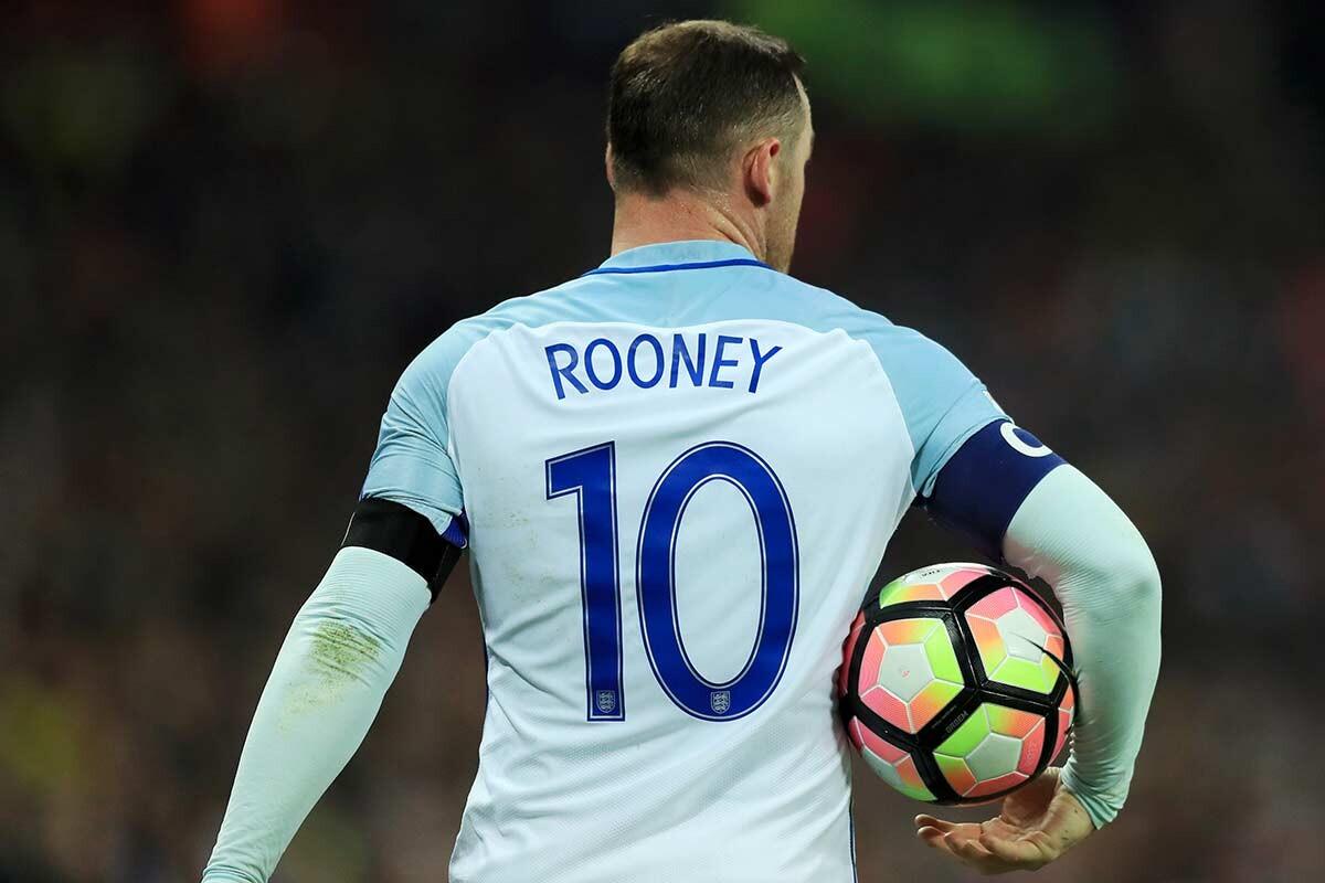Wayne Rooney, con Inglaterra