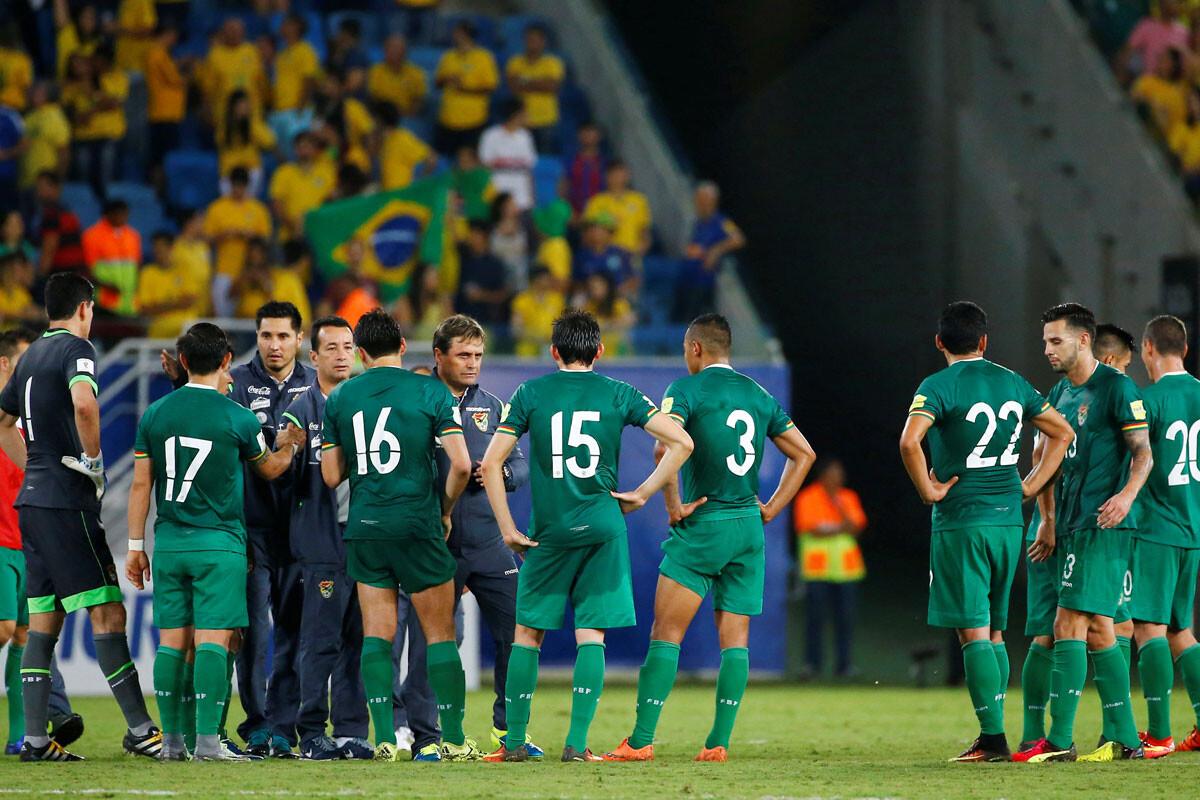 Selección de Bolivia se lamenta