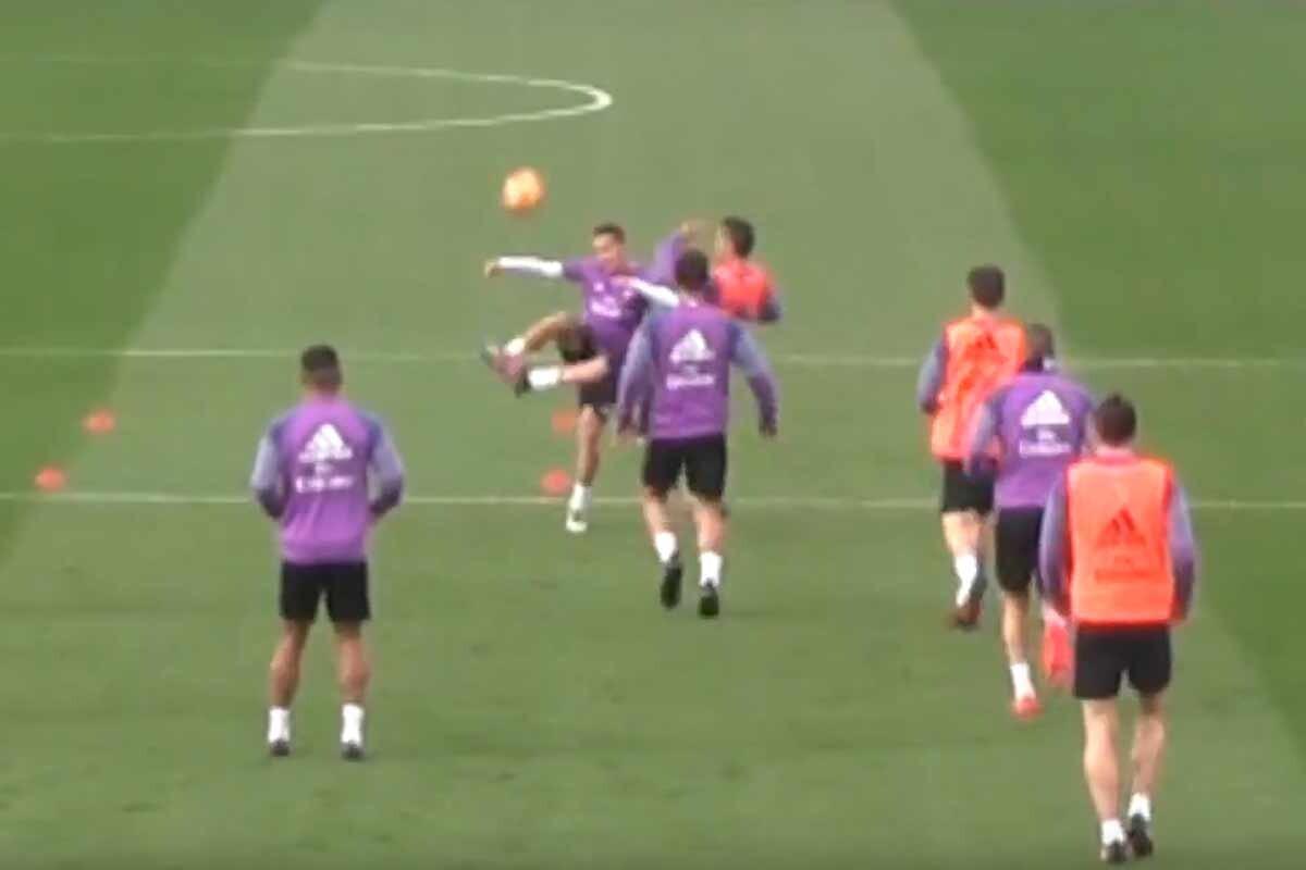 Cristiano Ronaldo y Lucas Vázquez