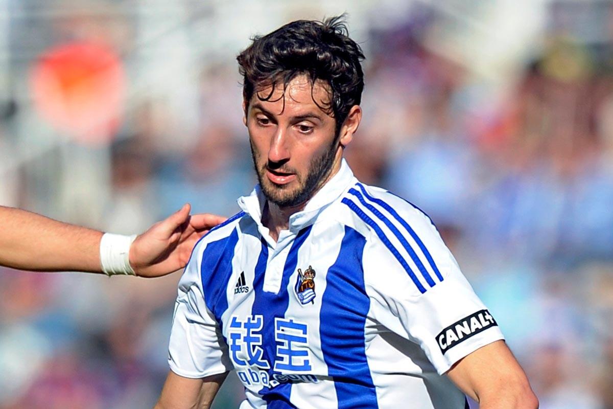 Esteban Granero, jugador de la Real Sociedad