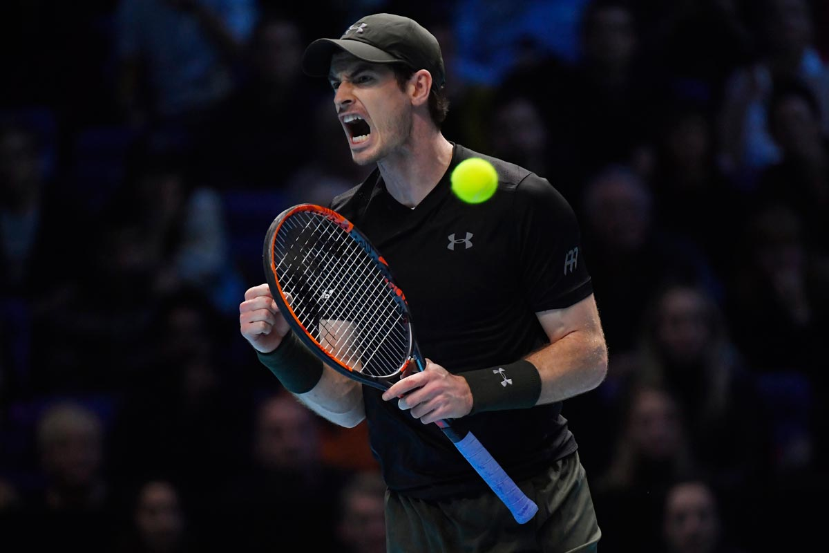Andy Murray en la final del Masters